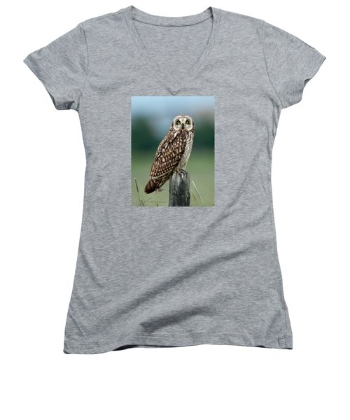 Owl See You Women's V-Neck T-Shirt (Junior Cut) by Torbjorn Swenelius