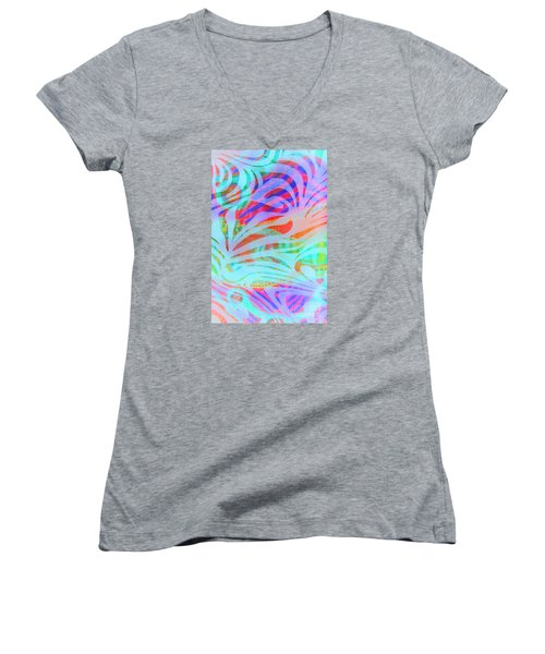 Women's V-Neck T-Shirt (Junior Cut) featuring the photograph Pacific Daydream by Nareeta Martin
