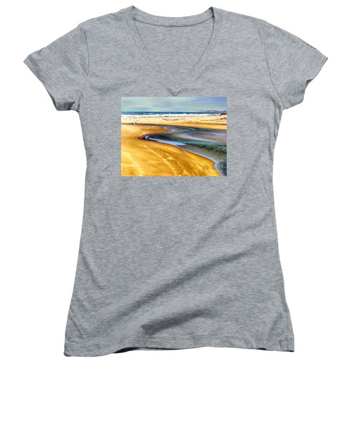 Pacific Ocean Beach Santa Barbara Women's V-Neck