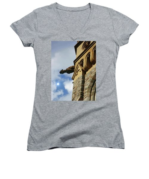 Packer Memorial Church Gargoyle Women's V-Neck T-Shirt
