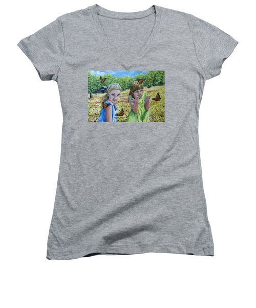Painted Ladies Women's V-Neck T-Shirt