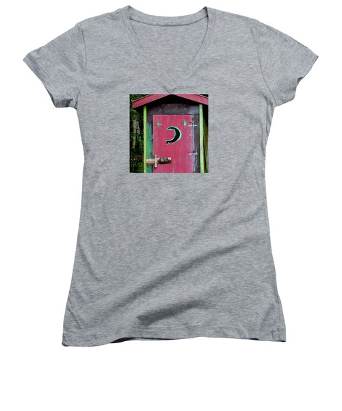 Painted Outhouse Women's V-Neck (Athletic Fit)