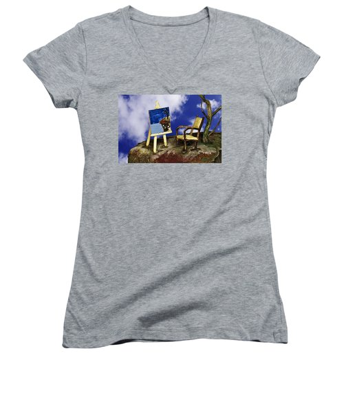 Painting Women's V-Neck T-Shirt