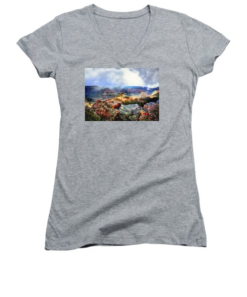 Painting The Grand Canyon Women's V-Neck (Athletic Fit)