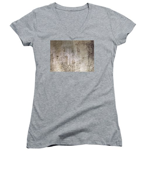 Painting West Wall Tomb Of Ramose T55 - Stock Image - Fine Art Print - Ancient Egypt Women's V-Neck (Athletic Fit)