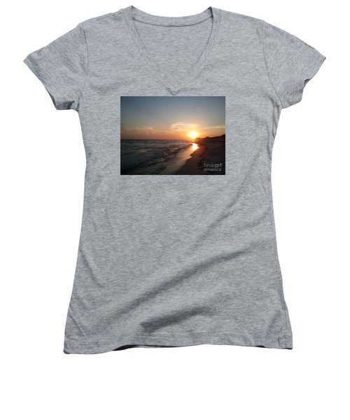 Panama City Beach Sunset Women's V-Neck T-Shirt