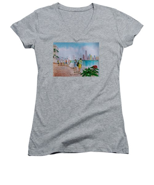Panama City Panama Women's V-Neck