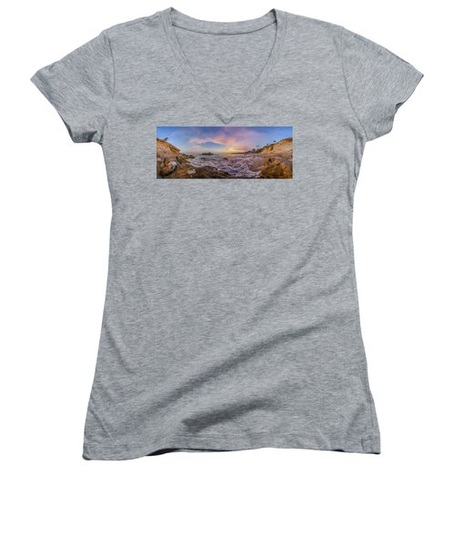 Panorama The Whole Way Round The Cove Women's V-Neck
