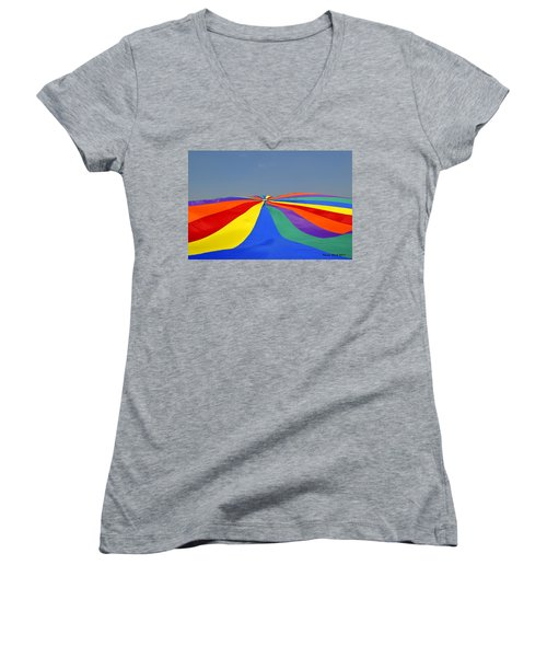 Parachute Of Many Colors Women's V-Neck T-Shirt