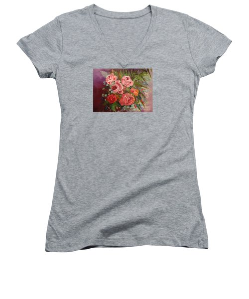 Parade Of Roses Women's V-Neck (Athletic Fit)