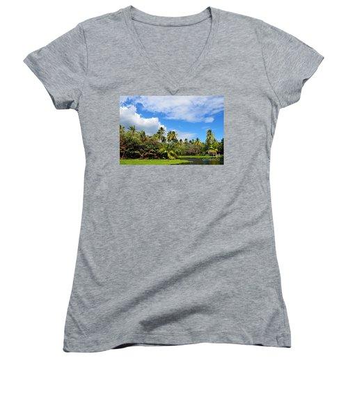 Paradise Lagoon Women's V-Neck T-Shirt
