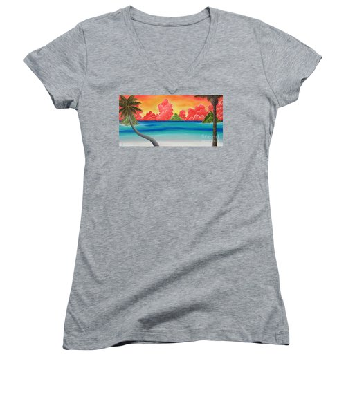 Paradise Panorama Women's V-Neck (Athletic Fit)