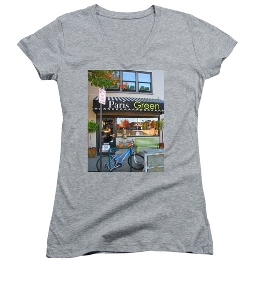 A Little Paris In Ashland Women's V-Neck (Athletic Fit)