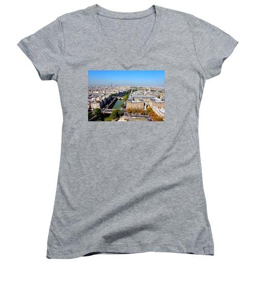 Paris Women's V-Neck T-Shirt