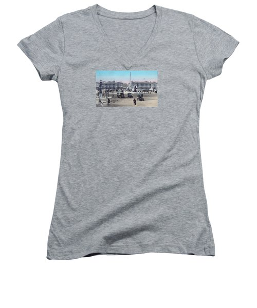 Paris Place De La Concorde 1910 Women's V-Neck (Athletic Fit)