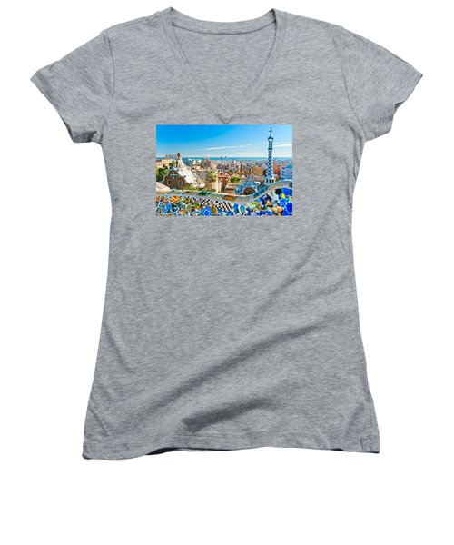 Park Guell - Barcelona Women's V-Neck T-Shirt