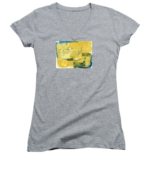 Pass Go Women's V-Neck T-Shirt (Junior Cut) by Caitlyn  Grasso