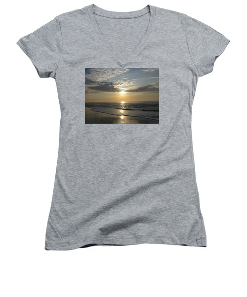 Pastel Sunrise Women's V-Neck T-Shirt (Junior Cut)