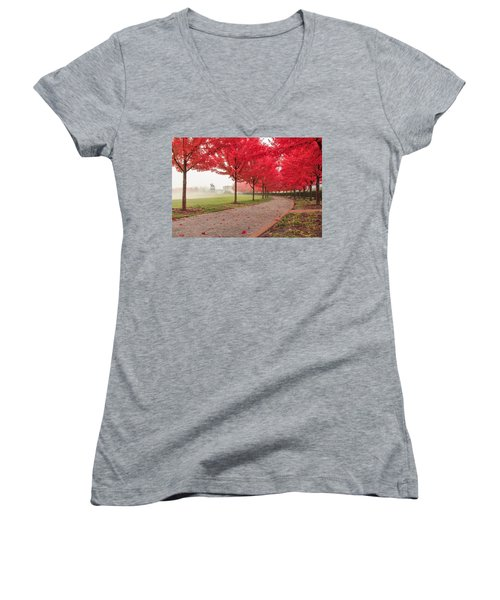 Path To Apotheosis Women's V-Neck (Athletic Fit)