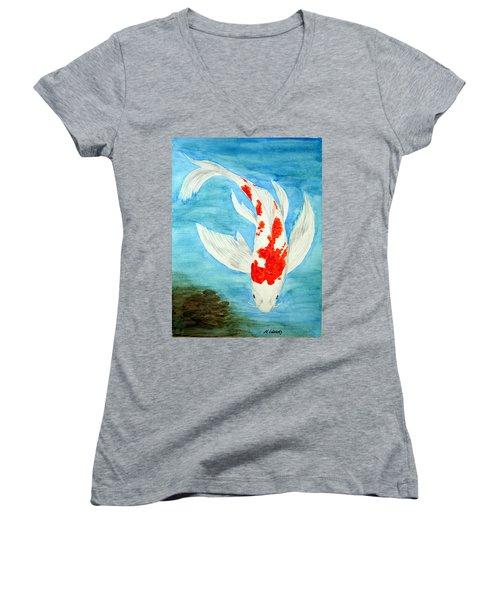 Paul's Koi Women's V-Neck T-Shirt