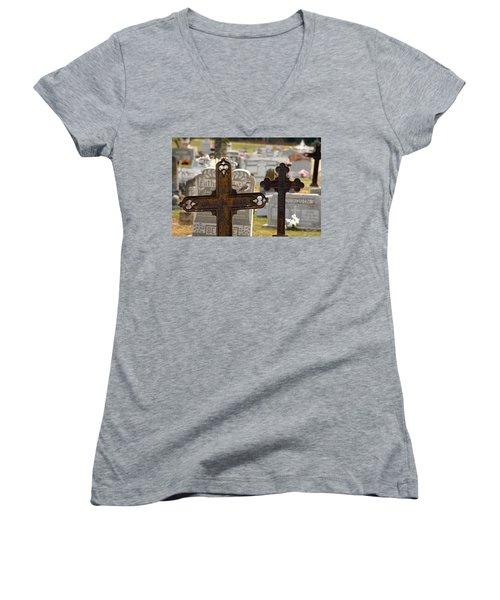 Paying Respect Women's V-Neck T-Shirt