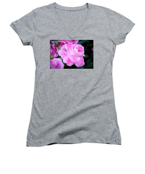 Women's V-Neck featuring the photograph Peace by Roxy Hurtubise