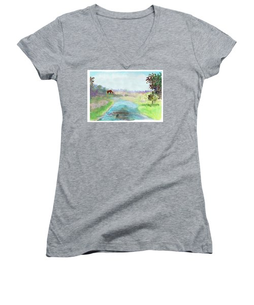 Peaceful Day Women's V-Neck (Athletic Fit)