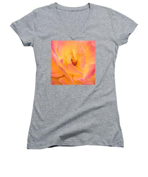 Peach Parfait  Women's V-Neck T-Shirt