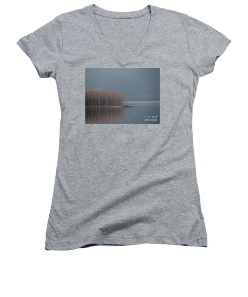 Peninsula Of Trees Women's V-Neck T-Shirt