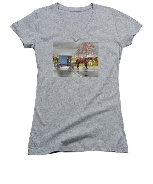 Pennsylvania Amish Women's V-Neck