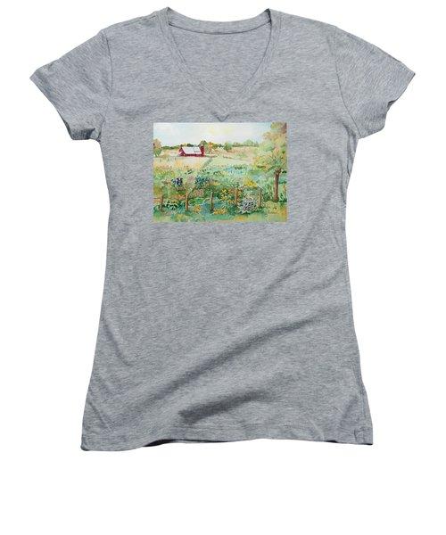 Pennsylvania Pasture Women's V-Neck T-Shirt