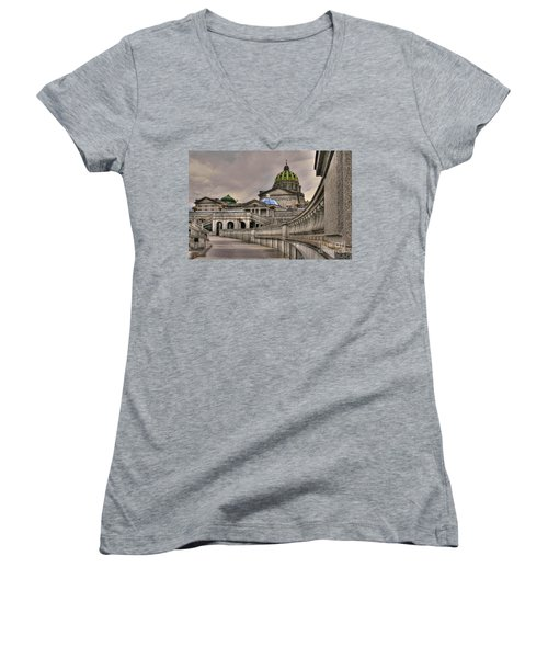 Pennsylvania State Capital Women's V-Neck (Athletic Fit)