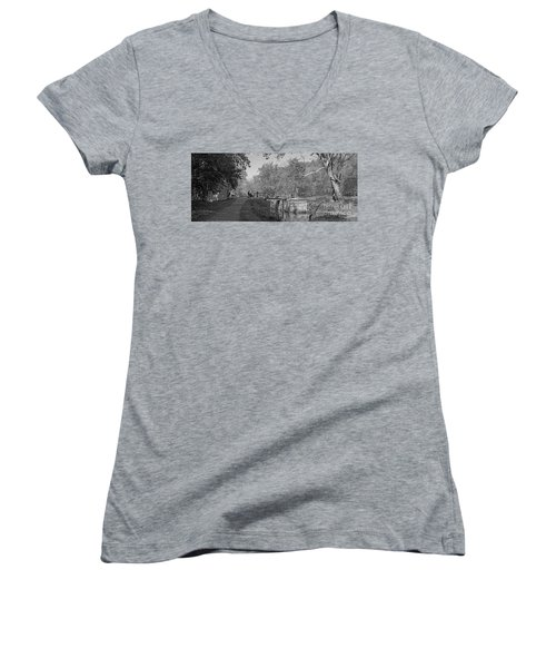 Pennyfield Lock Chesapeake And Ohio Canal Women's V-Neck