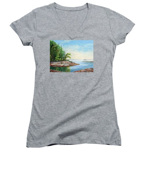 Penobscot Inlet Women's V-Neck T-Shirt