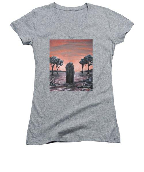 Perils Of Perdition Women's V-Neck T-Shirt (Junior Cut) by Michael  TMAD Finney