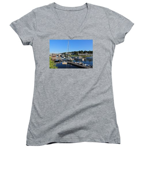 Perkins Cove Ogunquit Maine 2 Women's V-Neck T-Shirt