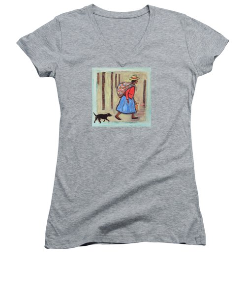 Peru Impression I Women's V-Neck T-Shirt (Junior Cut) by Xueling Zou