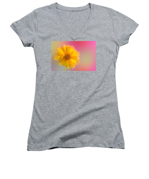 Petals Of Sunshine Women's V-Neck (Athletic Fit)
