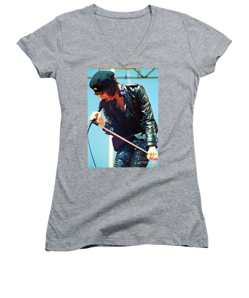 Peter Wolf From J Geils Band - Day On The Green July 4th 1979 Women's V-Neck (Athletic Fit)