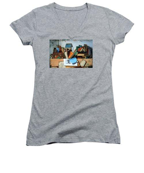 Peto's Take Your Choice Women's V-Neck T-Shirt (Junior Cut) by Cora Wandel