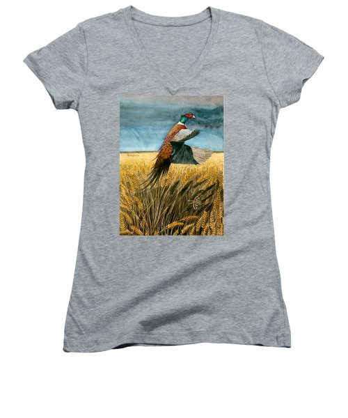 Pheasant Rising Women's V-Neck (Athletic Fit)