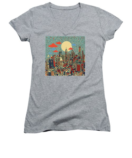 Philadelphia Dream 2 Women's V-Neck T-Shirt