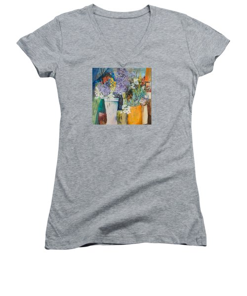 Picture Puzzle Women's V-Neck T-Shirt (Junior Cut) by Lee Beuther