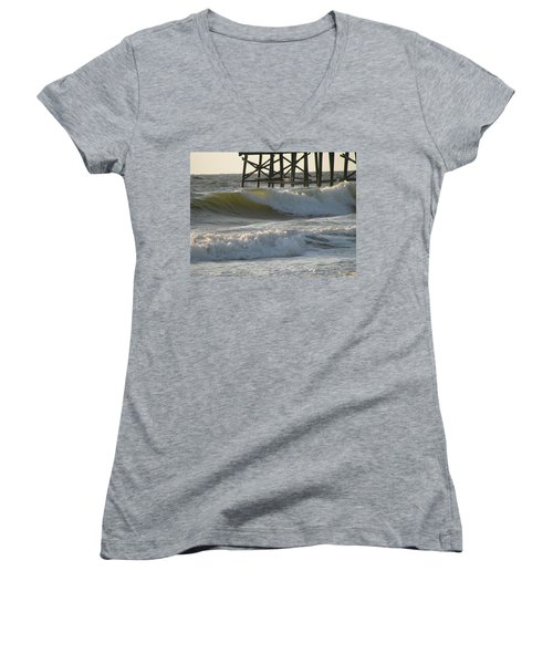 Pier Pressure Women's V-Neck T-Shirt (Junior Cut)