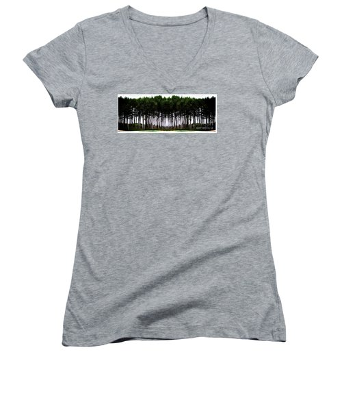 Pine Forest Women's V-Neck (Athletic Fit)