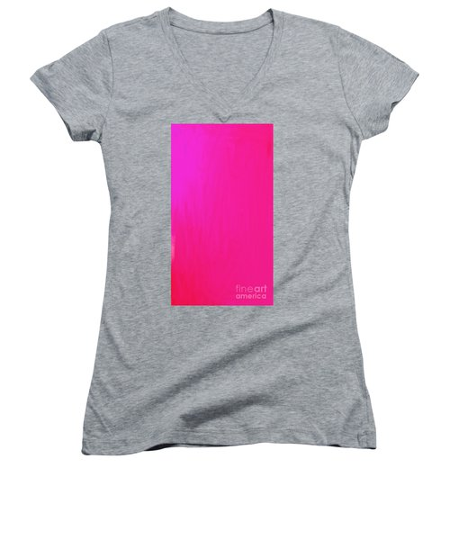 Pink Women's V-Neck (Athletic Fit)