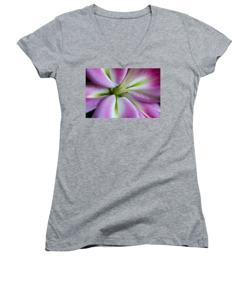 Pink Asiatic Lily Women's V-Neck
