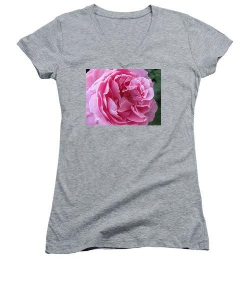 Women's V-Neck T-Shirt (Junior Cut) featuring the photograph Pink Beauty by Pema Hou