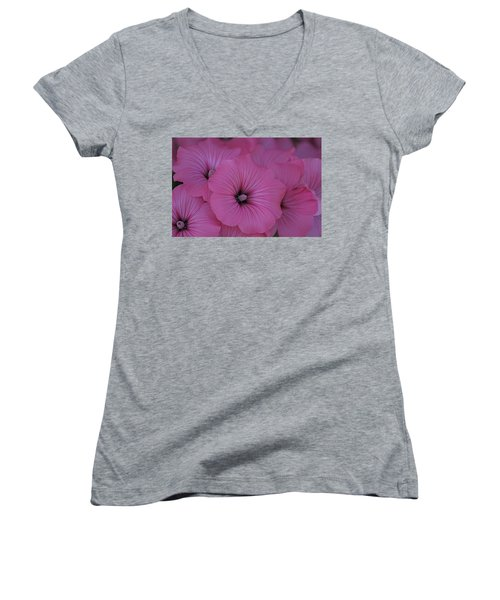 Pink Petunia Women's V-Neck T-Shirt