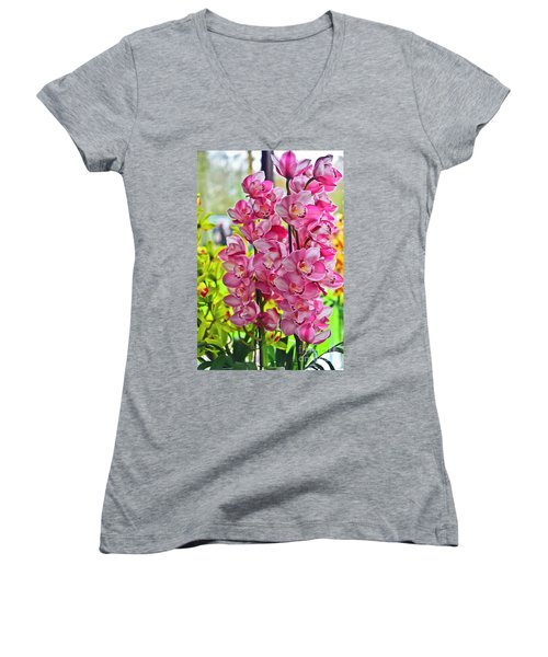 Pink Shadows Women's V-Neck T-Shirt